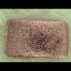 New The Limited Pink Glitter Clutch bag